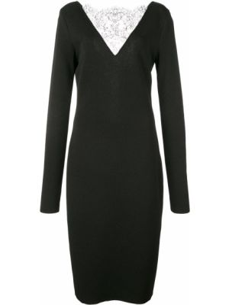 Платье миди с открытой спиной коктейльное Givenchy