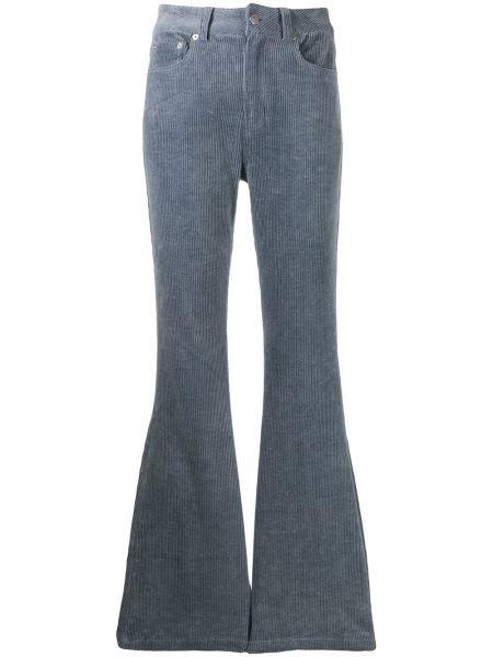 Расклешенные свободные брюки винтажные с поясом Neul