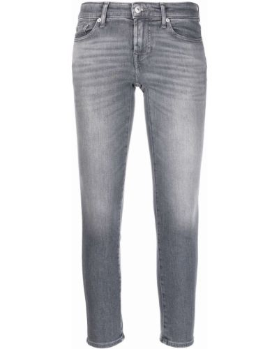 Серые джинсы из эластана 7 For All Mankind