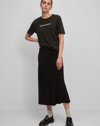 Czarna koszulka z wiskozy Marc O Polo