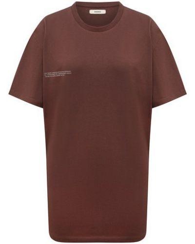 Хлопковая футболка - коричневая Pangaia
