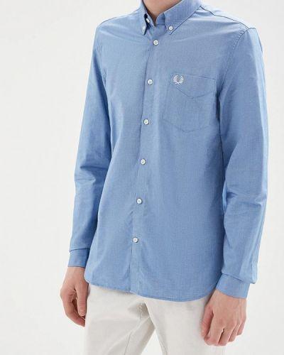 Голубая рубашка Fred Perry