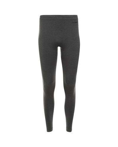 Облегающие шерстяные серые спортивные брюки Demix