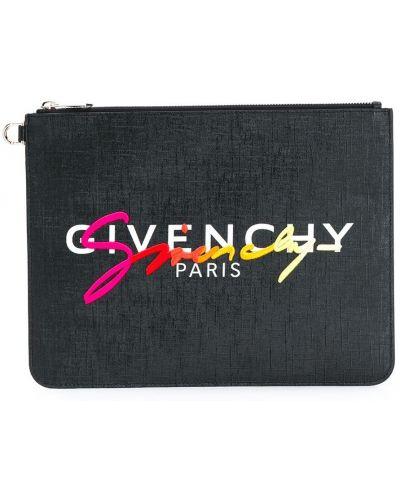 Bawełna czarny torba sprzęgło z haftem z kieszeniami Givenchy