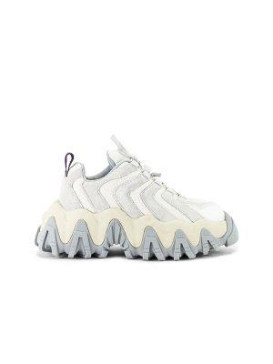 Biały sneakersy z siatką na sznurowadłach z kołnierzem Eytys