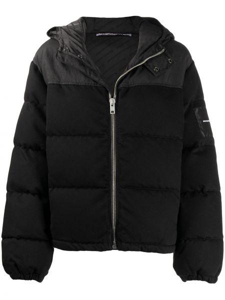 Классическая нейлоновая черная куртка с капюшоном с длинными рукавами T By Alexander Wang