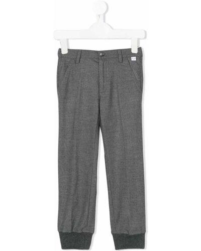 Повседневные хлопковые серые брюки Il Gufo