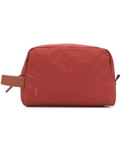 Красный нейлоновый несессер на молнии с карманами Ally Capellino