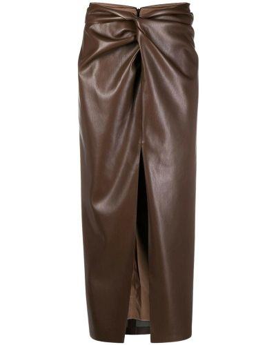 Brązowa spódnica Nanushka