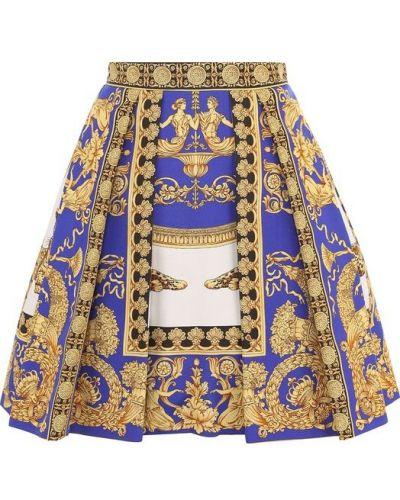 Юбка мини в складку с принтом Versace