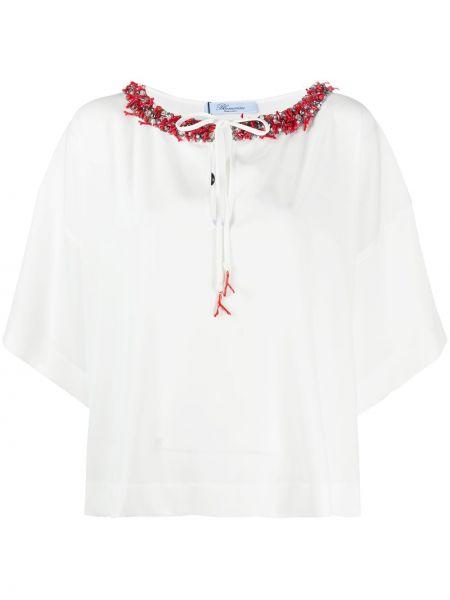Bluzka z dekoltem z cekinami Blumarine