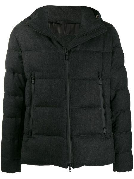 Czarna kurtka skórzana z kapturem Tatras