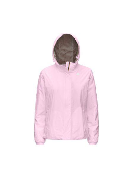 Różowy płaszcz K-way