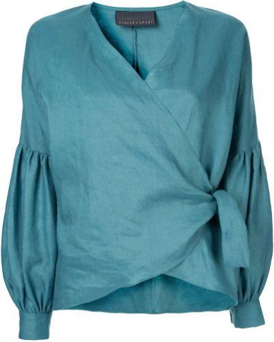 Блузка с запахом зеленый Ginger & Smart
