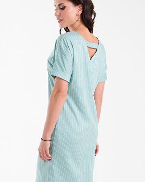 Джинсовое платье макси в полоску Taiga