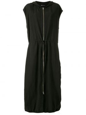Платье миди с короткими рукавами - черное Uma   Raquel Davidowicz