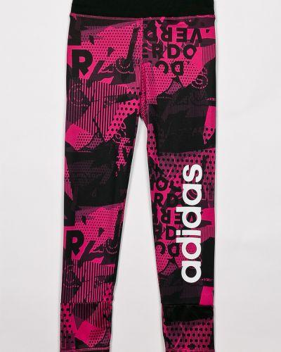 Розовые брюки на резинке Adidas Performance