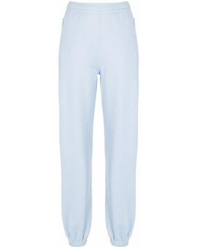 Флисовые синие спортивные брюки на молнии Les Girls, Les Boys