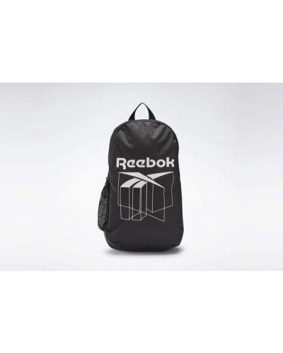 Czarny plecak szkolny materiałowy Reebok