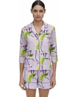 Рубашка без воротника с принтом Laura Urbinati