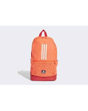 Pomarańczowy plecak szkolny w paski Adidas