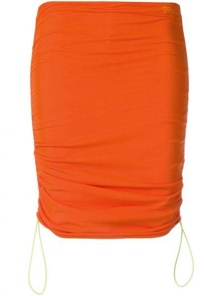 Оранжевая нейлоновая юбка Miaou