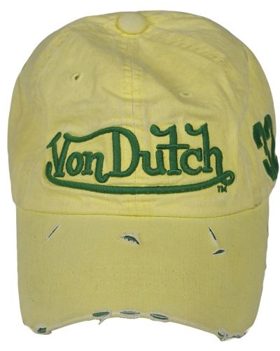 Кепка винтажная - желтая Von Dutch
