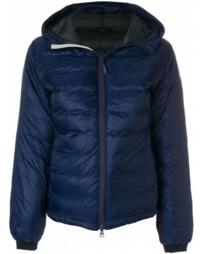 Куртка с капюшоном дутая синий Canada Goose