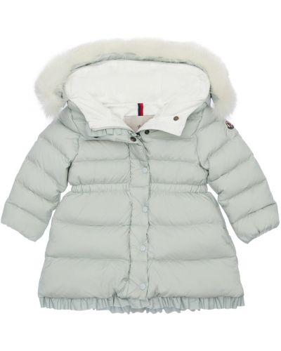 Nylon płaszcz z mankietami z kapturem na przyciskach Moncler