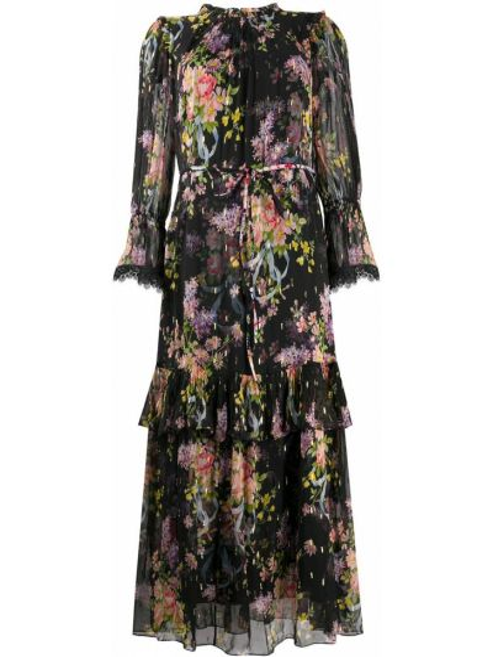 Черное платье металлическое Needle & Thread