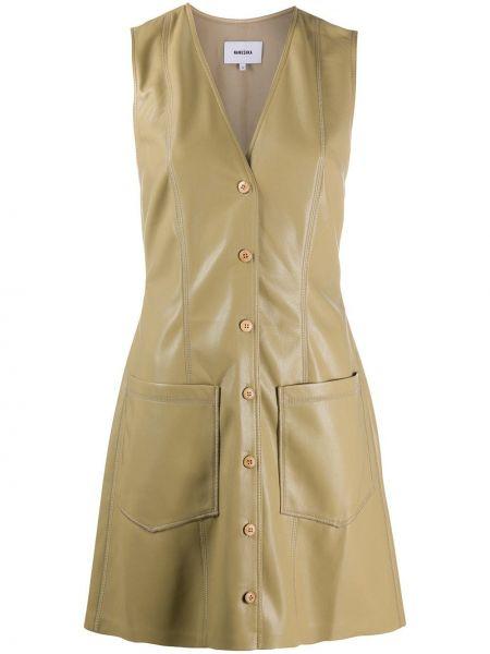 Платье на пуговицах с V-образным вырезом Nanushka