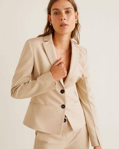 Классический пиджак прямой бежевый Mango