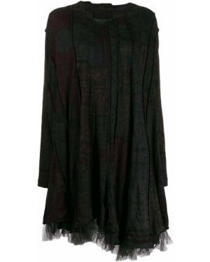 Платье макси с длинными рукавами - черное Rundholz