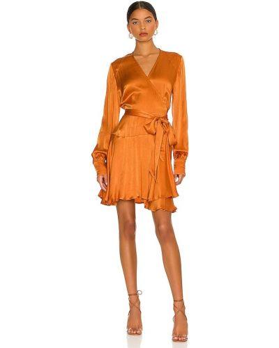 Платье мини атласное - оранжевое Karina Grimaldi