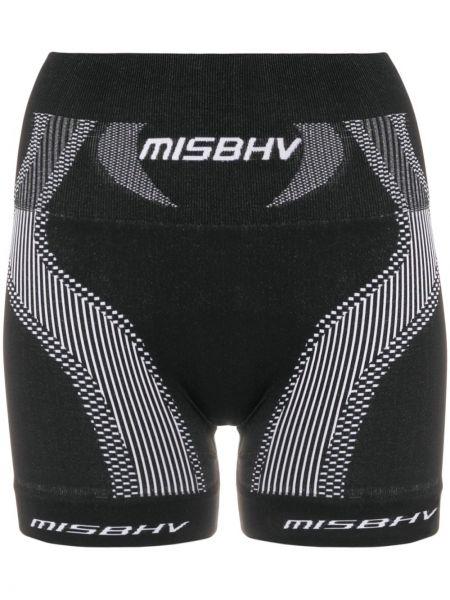 Czarne krótkie szorty z haftem Misbhv