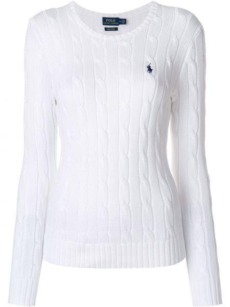 Свитер длинный - белый Polo Ralph Lauren