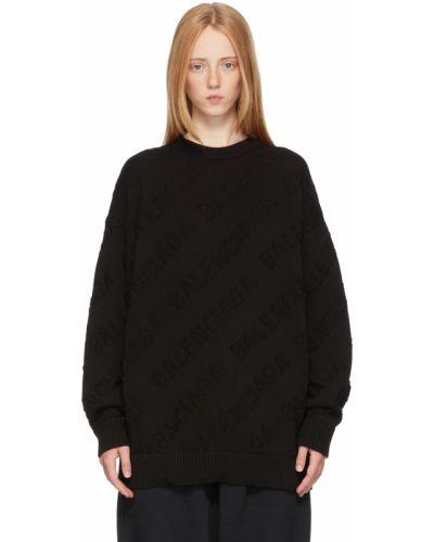 Sweter bawełniany - czarny Balenciaga