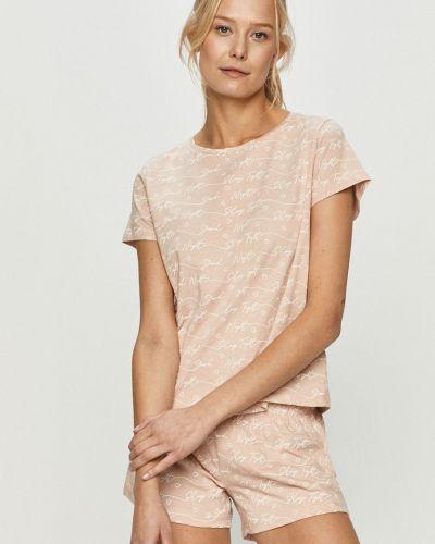Różowa piżama bawełniana krótki rękaw Brave Soul