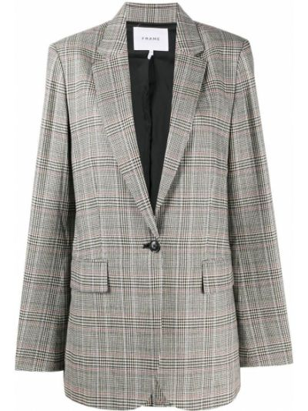 Шерстяной коричневый пиджак на пуговицах с лацканами Frame