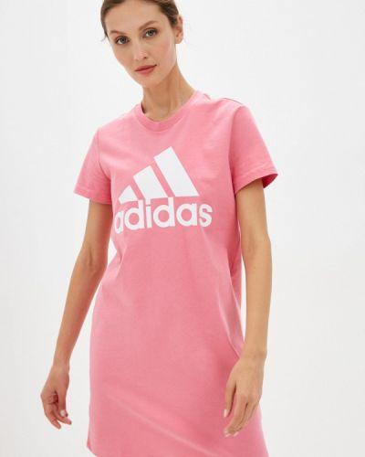 Платье-футболка - розовое Adidas