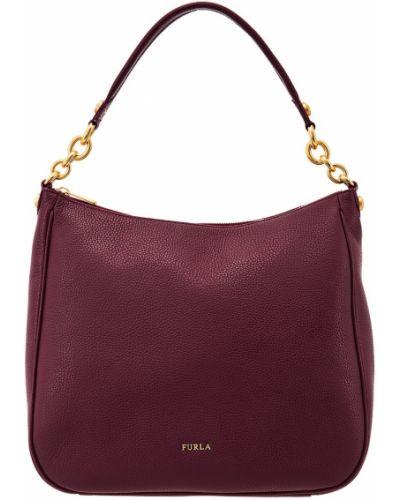 Кожаная сумка на цепочке среднего размера Furla