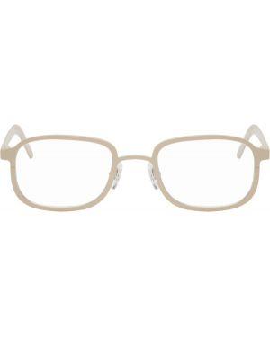 Желтые очки квадратные прозрачные Blyszak