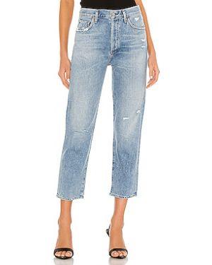 Прямые джинсы рваные на пуговицах Citizens Of Humanity
