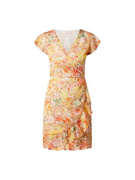 Biała sukienka rozkloszowana z falbanami Freebird