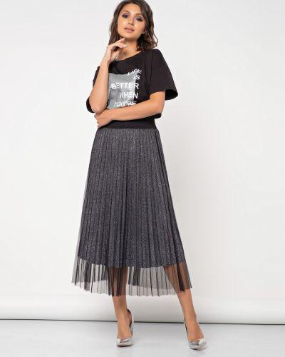 Плиссированная юбка на резинке с сеткой Jetty