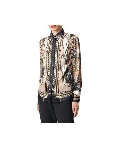 Коричневая блузка Luisa Spagnoli