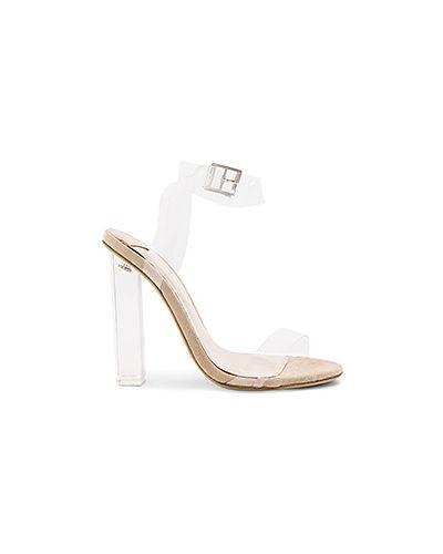 Туфли на каблуке прозрачные с пряжкой Tony Bianco