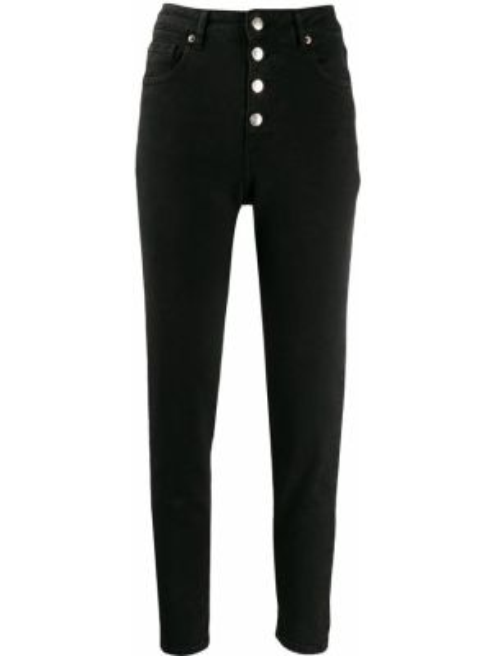 Пляжные черные джинсы с высокой посадкой с карманами с пайетками Iro