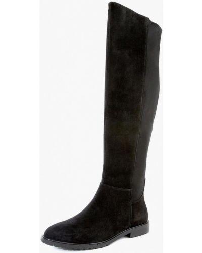 Кожаные сапоги черные на каблуке M.shoes