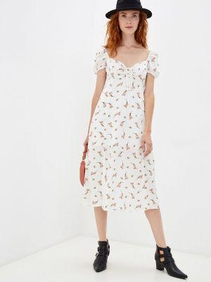 Белое прямое платье M,a,k You Are Beautiful